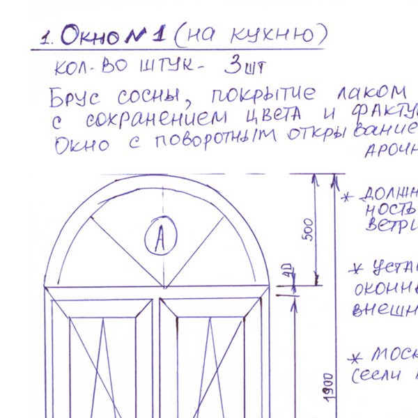 Пример заявки на расчет - 2