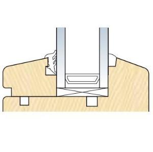Уплотнитель на стекло деревянного окна
